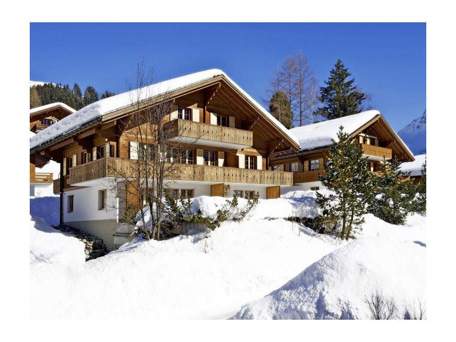 Aussenansicht Engelhorn/Furggenhorn Winter