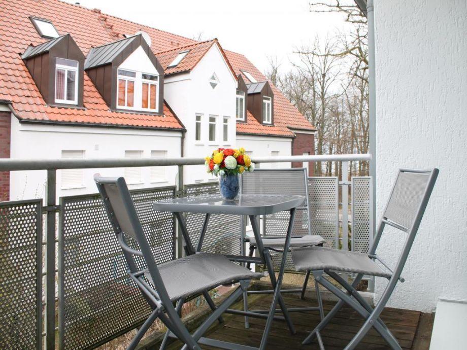Residenz Düne III/8 - Blick auf den Balkon