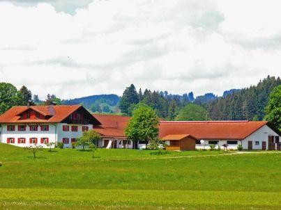 Grüntenblick auf dem Ferienhof Haslach