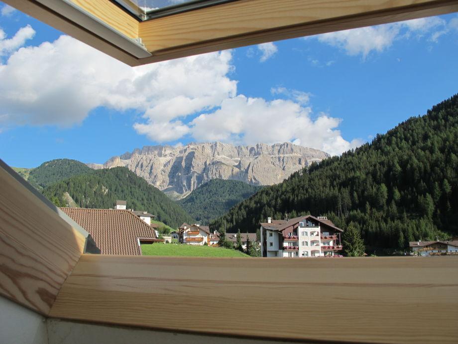 Ausblick vom Dachfenster der Küche