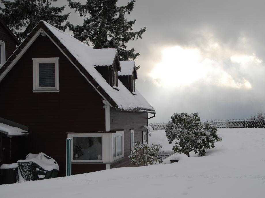 Lüttjes Almhus im Winter