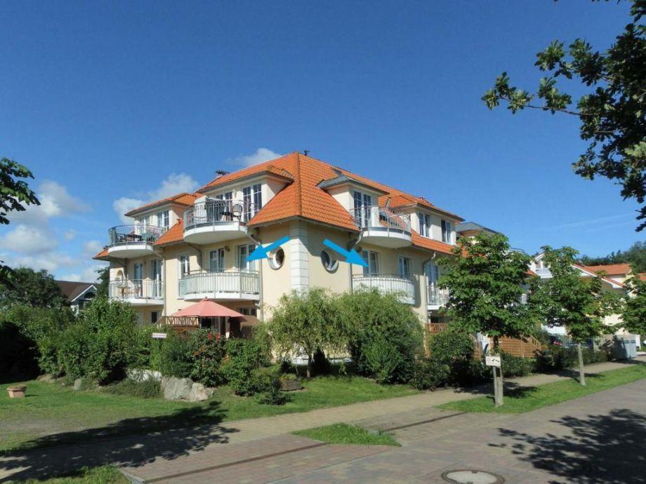 Dwarslöper Whg. Dwa15, Sanddorn - Blick auf die Wohnnung mit beiden Balkonen