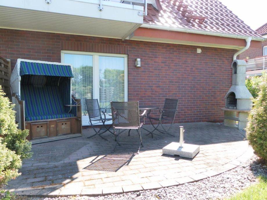 Haus Silbermöwe Whg.SM3 - Blick auf die Terrasse