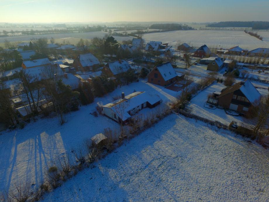winterliche Vogelperspektive