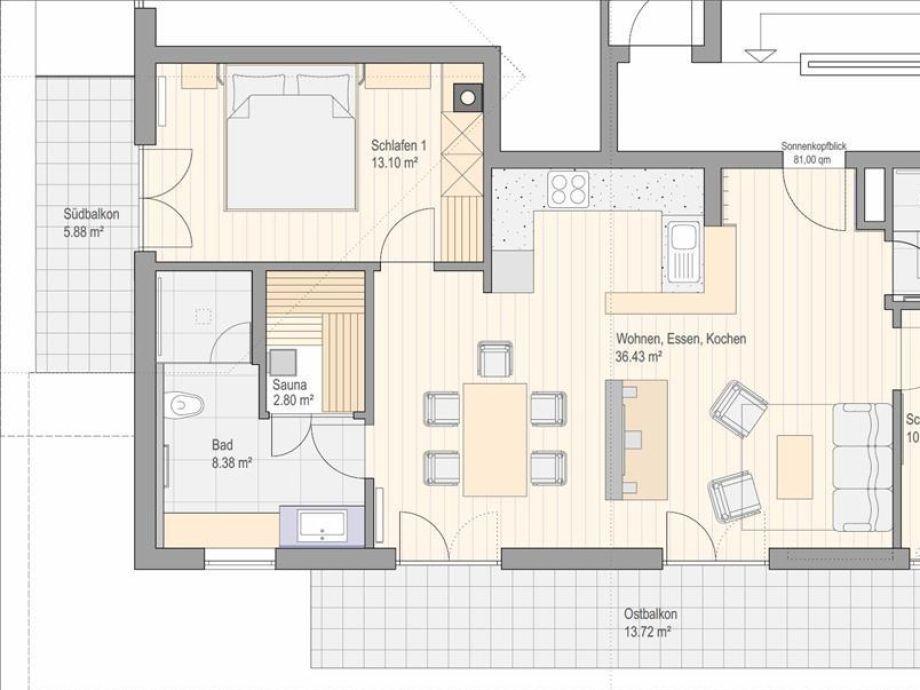 holiday apartment sonnenkopfblick with sauna oberallg u. Black Bedroom Furniture Sets. Home Design Ideas