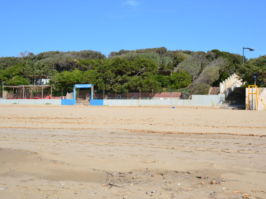 the beach in front of the house