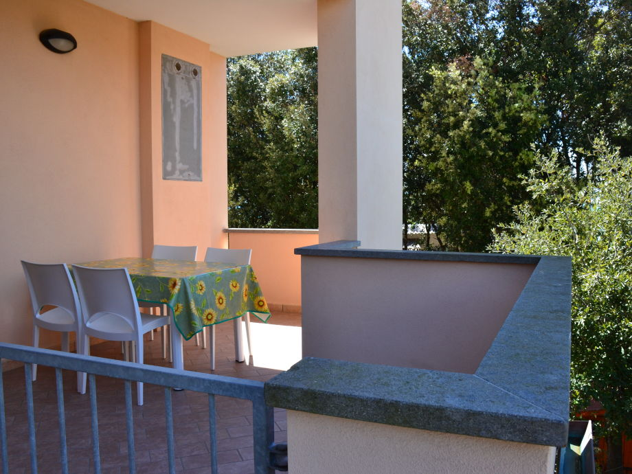 privat terrace for dining and relaxing