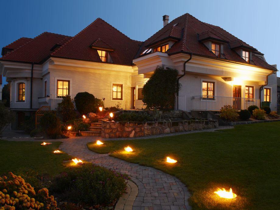 Abendstimmung im Landhaus Luka