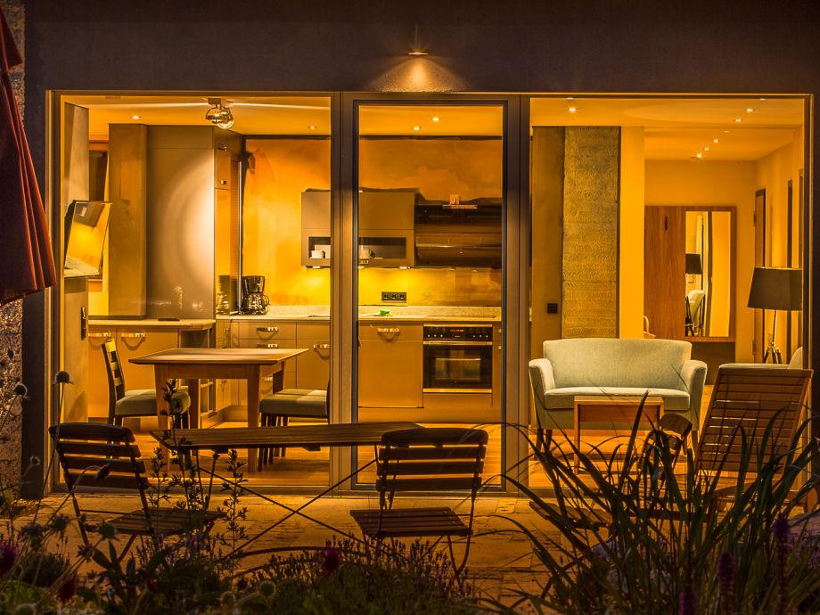 Nachtstimmung auf der Terrasse
